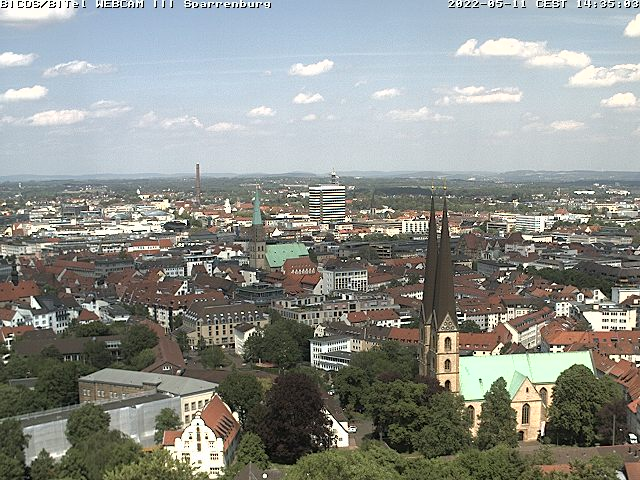 webcam Bielefeld Sparrenburg